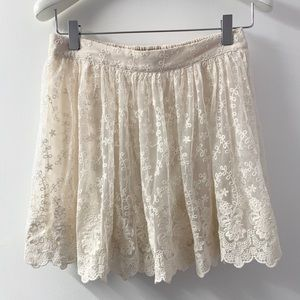 ✨ Romantic Lace Skirt Size 28